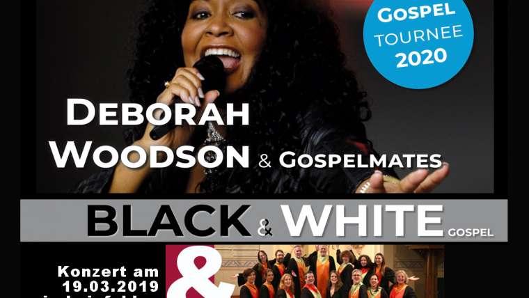 BLACK & WHITE Gospelkonzert zusammen mit Deborah Woodson & Gospelmates in Leinfelden