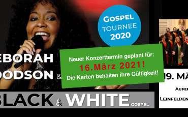 Neuer Termin geplant: BLACK & WHITE Gospelkonzert mit Deborah Woodson & Gospelmates